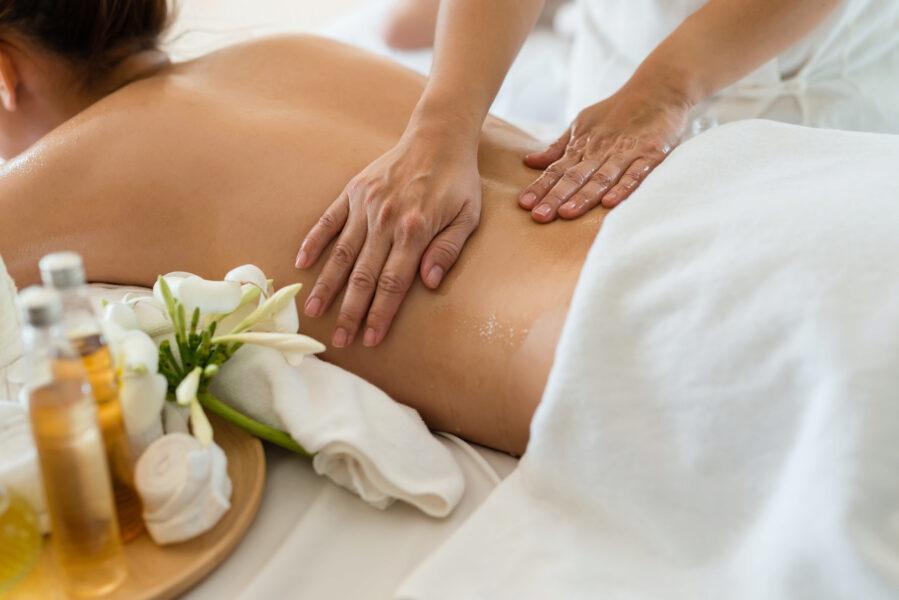 Aromaöl Rückenmassage
